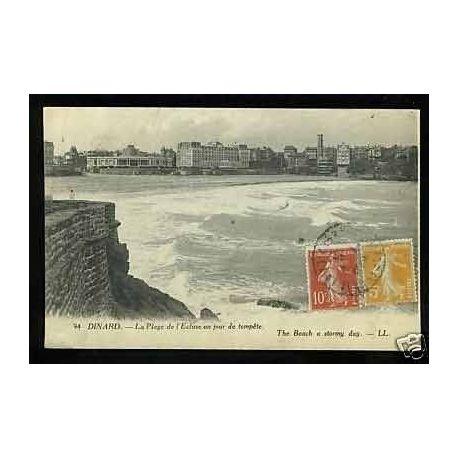 35 - Dinard - La plage de l'Ecluse un jour de tempete