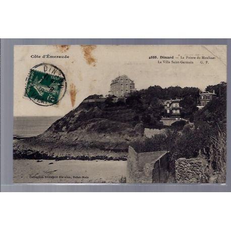 Carte postale 35 - Dinard - La pointe du Moulinet - La villa Saint-Germain - Voyage - Dos...