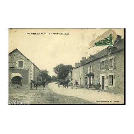 35 - Gosne - Bel-Air route d'Erce - Attelage - Chevaux