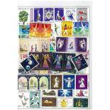 Collection de timbres Christmas oblitérés