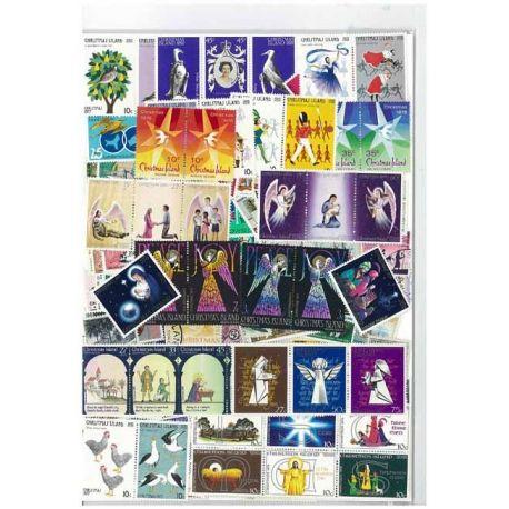 Weihnachten - 25 verschiedene Briefmarken