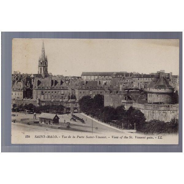 Carte postale 35 saint malo vue de la porte saint for Porte de garage saint malo