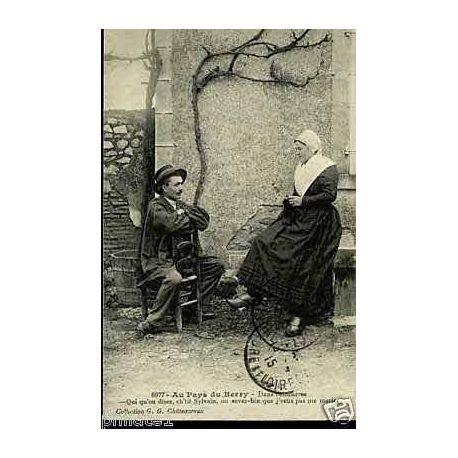 Carte postale 36 - Au pays du berry -Dans l'embarras -Qui qu'ou disez
