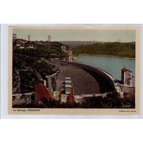 Carte postale 36 - Eguzon - le barrage - Non voyage - Dos divise...