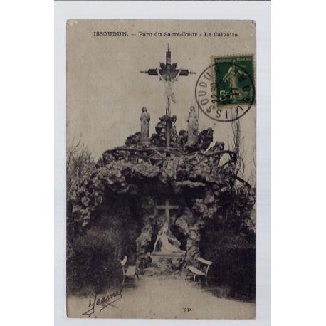Carte postale 36 - Issoudun - Parc du Sacre-Coeur - le calvaire - Voyage - Dos divise...