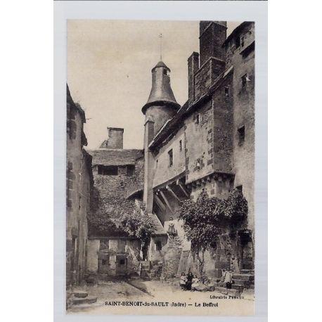 Carte postale 36 - Saint-Benoit-du-Sault - Le Beffroi - Non voyage - Dos divise...
