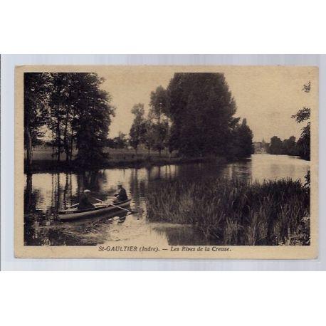 Carte postale 36 - St-Gaultier - Les Rives de la Creuse - Voyage - Dos divise...