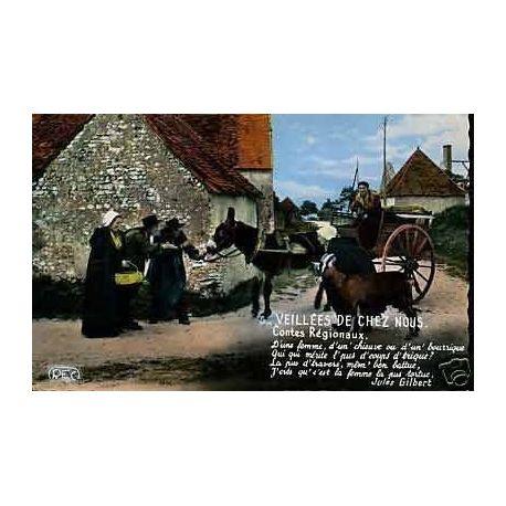Carte postale 36 -Groupe les 3 Trefles de Buzancais - CPSM - Attelage