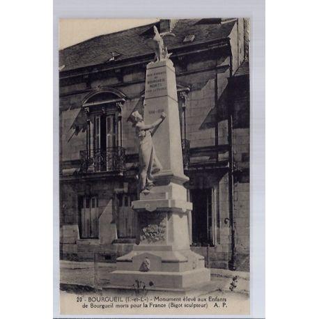 Carte postale 37 - Bourgueil - Monument eleve aux enfants de Bourgueil morts pour la Fran...