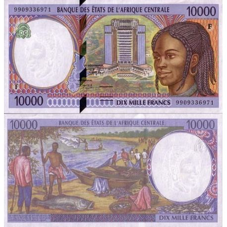 Billets de collection Billet de collection Afrique Centrale Centrafrique Pk N° 305 - 10000 Francs Billets de Centrafrique 67,...