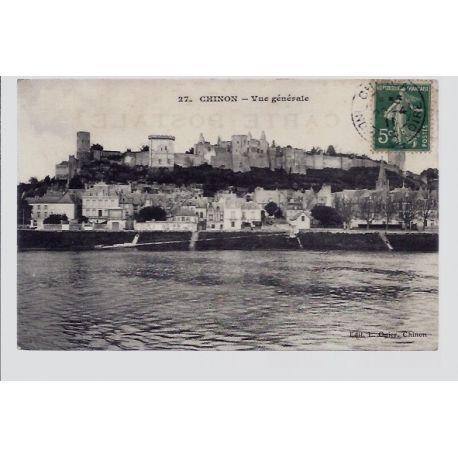 Carte postale 37 - Chinon - Vue generale - Voyage - Dos divise...