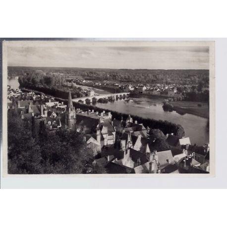 Carte postale 37 - Chinon - Vue generale sur la ville et la Vienne - Non voyage - Dos div...