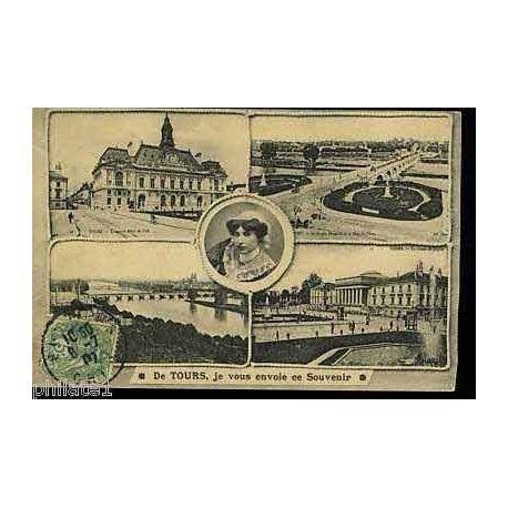 Carte postale 37 - de Tours je vous envoie ce souvenir - multivue