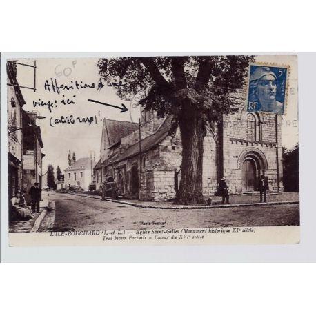 Carte postale 37 - L' Ile-Bouchard - Eglise Saint-Gilles - tres beaux portails - Choeur ...