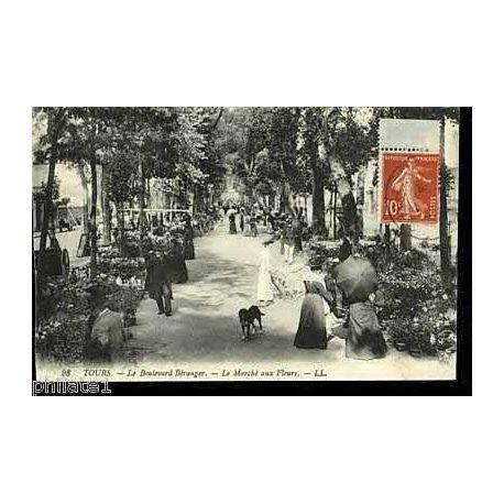37 - Tours - Boulevard Beranger - Le marche aux fleurs