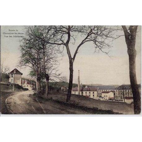 Carte postale 38 - Chavarines-les-Bains - Entree de la ville - Vue des fabriques - Voyage -