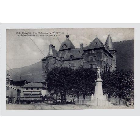 Carte postale 38 - Dauphine - Chateau de Vizille et Monument du Centenaire - Non voyage -...
