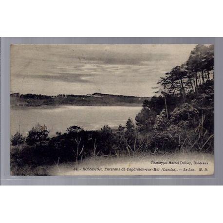 Carte postale 40 - Hossegor - Environs de Capbretons-sur-Mer - Le lac - Voyage - Dos divi...