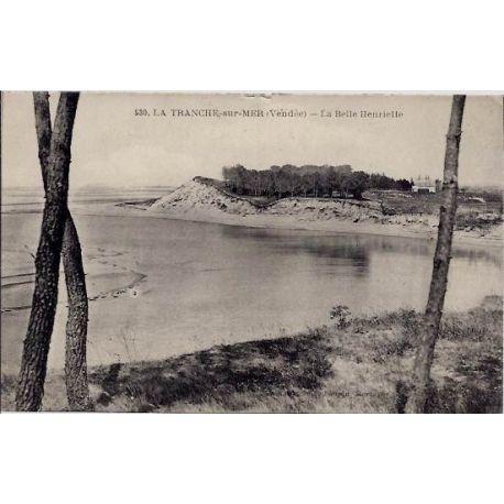 Carte postale 40 - La tranche sur Mer - La belle Henriette - Voyage - Dos divise