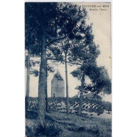 Carte postale 40 - La tranche sur Mer - Vieux moulins - Voyage - Dos divise