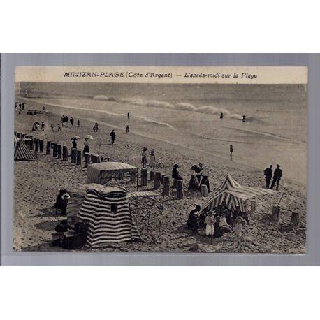 Carte postale 40 - Mimizan-plage - L'apres-midi sur la plage - Voyage - Dos divise...