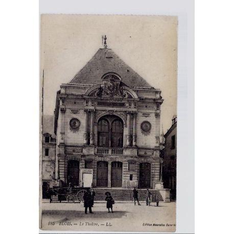 Carte postale 41 - Blois - le theatre - Non voyage - Dos divise...