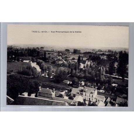 Carte postale 41 - Troo - Vue panoramique de la Vallee - Non voyage - Dos divise...