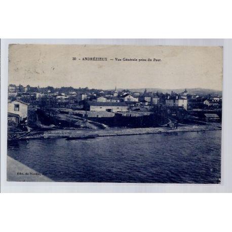 42 - Andrezieux - Vue generale prise du pont - Voyage - Dos divise...