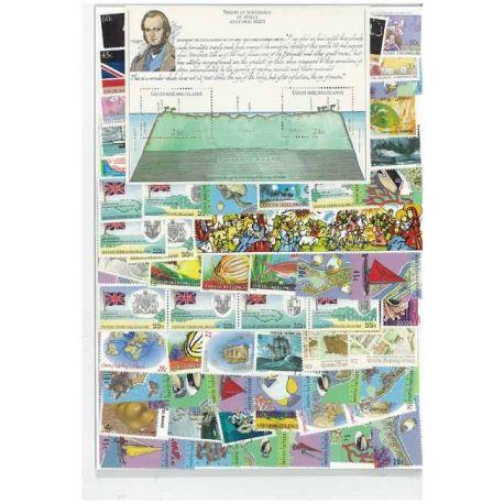 Kokos Keeling - 10 verschiedene Briefmarken
