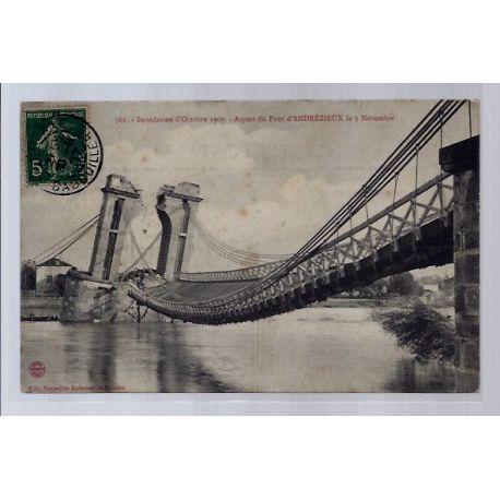 42 - Aspect du pont d' Andrezieux le 5 Novembre - Inondations d'Octobre 190...