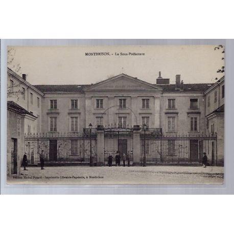 42 - Montbrison - La Sous-prefecture - Non voyage - Dos divise...