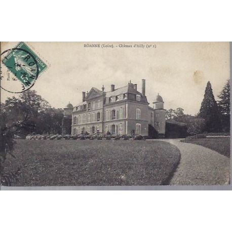Carte postale 42 - Roanne - Chateau d'Ailly