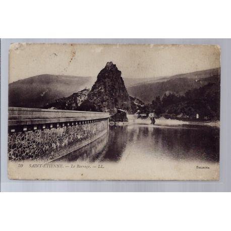 42 - Saint-Etienne - Le barrage - Voyage - Dos divise...