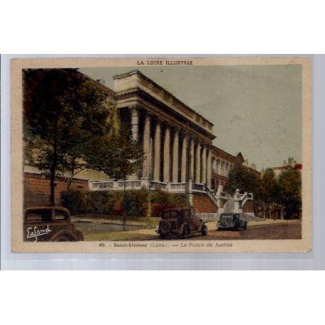 42 - Saint-Etienne - Le Palais de Justice - Voyage - Dos divise...