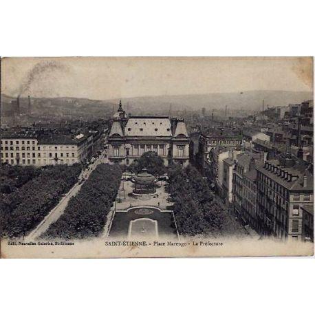 42 - Saint-Etienne - Place Marengo - La prefecture - Voyage - Dos divise