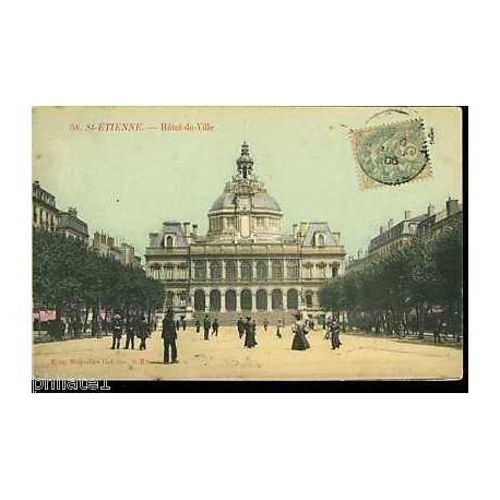 42 - St Etienne - Hotel de ville - Animee