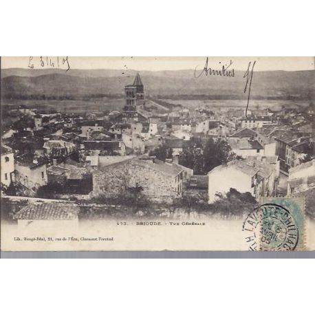 Carte postale 43 - Brioude - Vue generale - Dos non divise