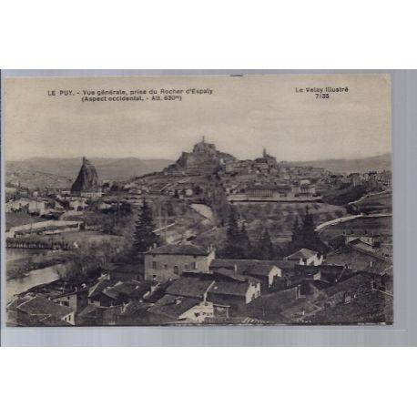 Carte postale 43 - Le Puy - Vue generale - prise du rocher d' Espaly - Non voyage - Dos d...