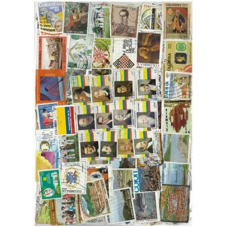 Colombia - 100 different stamps