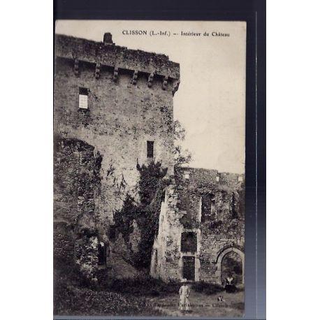 Carte postale 44 - Clisson - Interieur du chateau - Voyage - Dos divise...