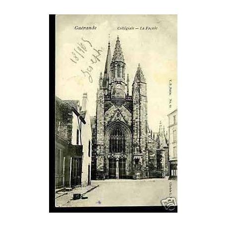 Carte postale 44 - Guerande - Collegiale - La facade