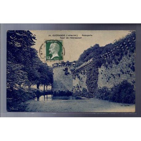 Carte postale 44 - Guerande - Remparts - Tour de l' abreuvoir - Voyage - Dos divise...