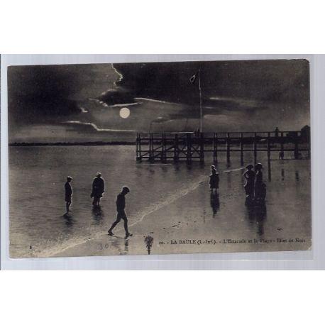 Carte postale 44 - La Baule - L' Estacade et la plage - Effet de nuit - Non voyage - Dos ...