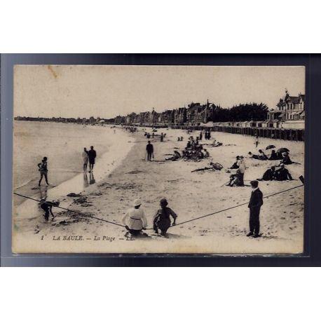 Carte postale 44 - La Baule - La plage - Voyage - Dos divise...