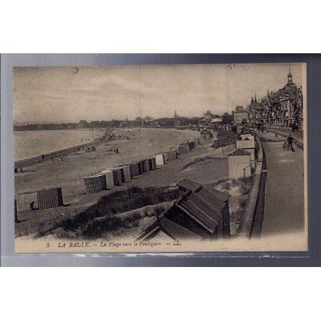 Carte postale 44 - La Baule - La plage vers le Pouliguen - Non voyage - Dos divise...