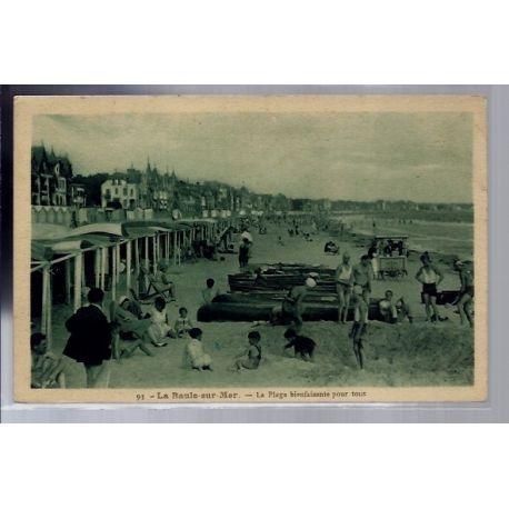 Carte postale 44 - La Baule-sur-Mer - La plage bienfaisante pour tous - Voyage - Dos divi...