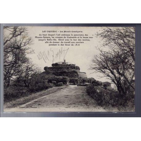 Carte postale 44 - Le Croisic - Le Mont-Lestpris - Voyage - Dos divise...