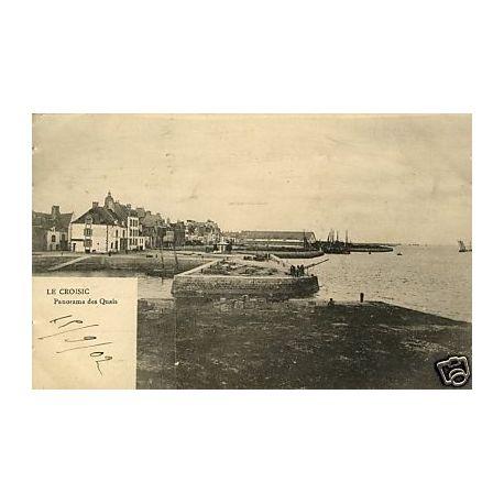 Carte postale 44 - Le Croisic - Panorama des quais