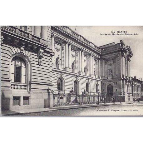 Carte postale 44 nantes entree du musee des beaux arts - Musee des beaux arts nantes ...