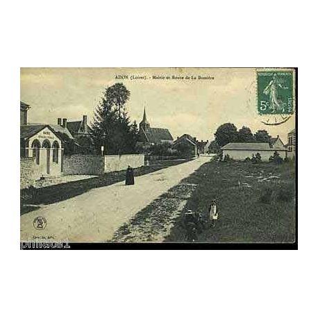 45 - Adon - Mairie et route de La Bussiere